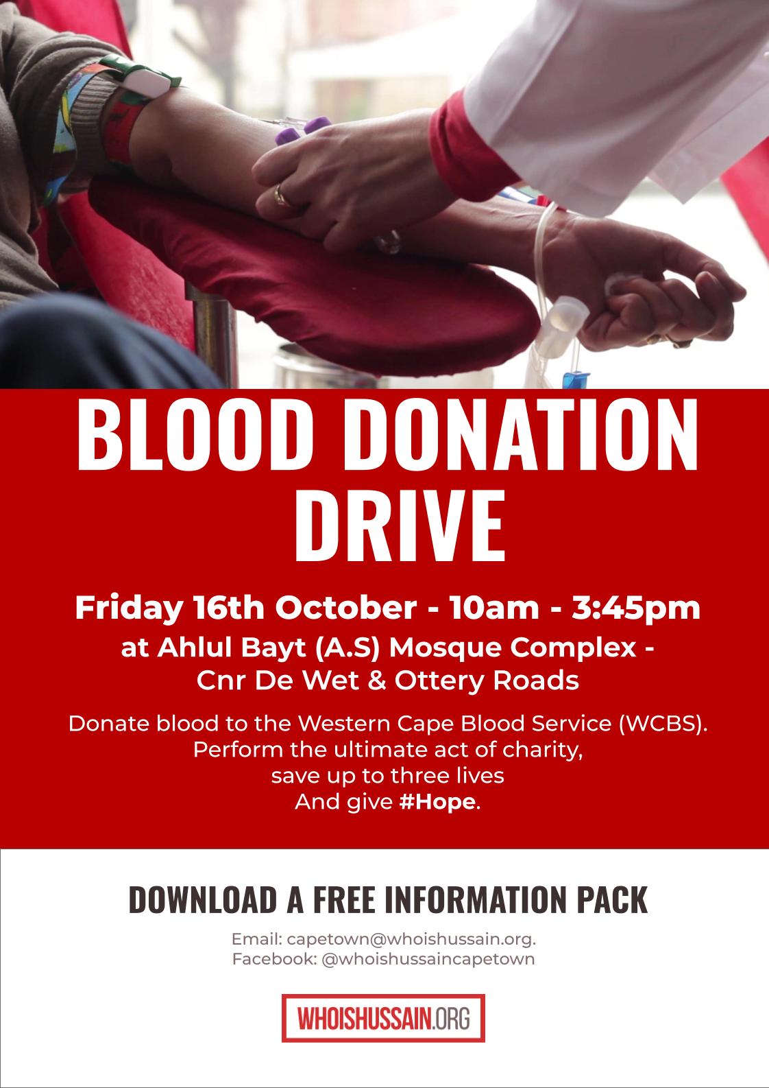 Blood Donation Cape Town 202010